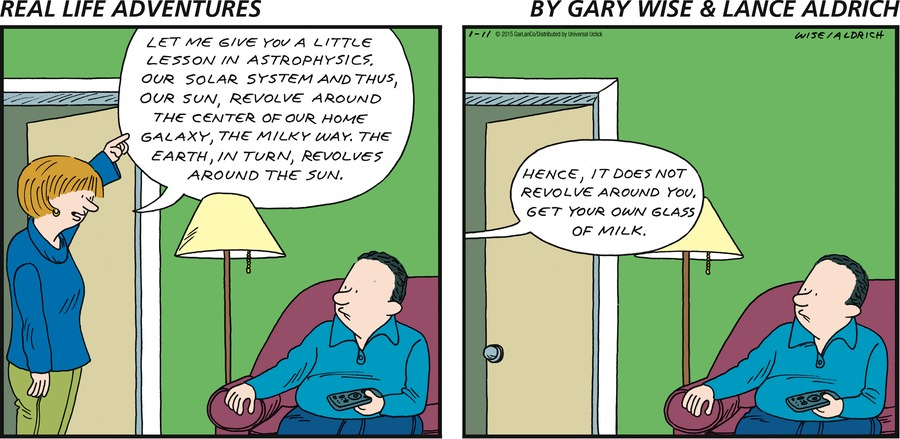 Real Life Adventures Comic Strip for January 11, 2015