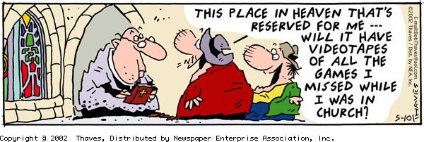 Frank and Ernest Comic Strip for May 10, 2002