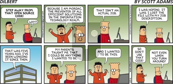 Dilbert on Sunday March 20, 2016 Comic Strip
