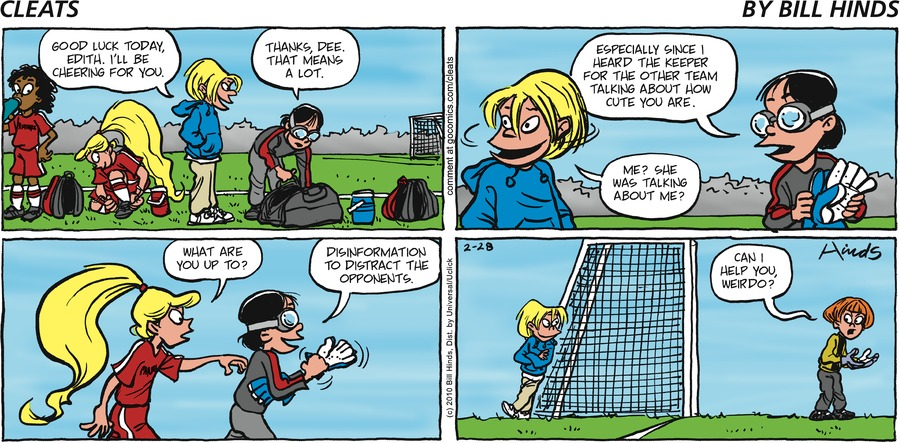 Cleats by Bill Hinds for March 03, 2019