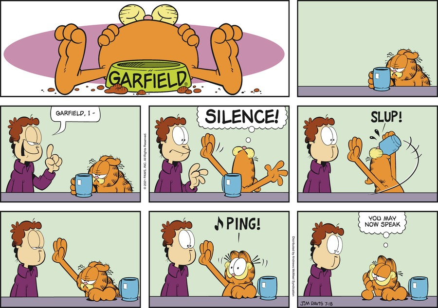 Garfield Comic Strip for July 18, 2021