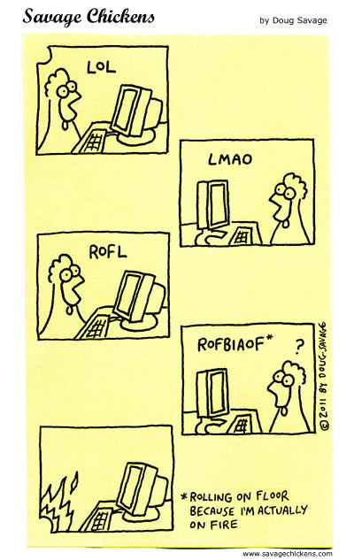 Savage Chickens Comic Strip for February 24, 2015