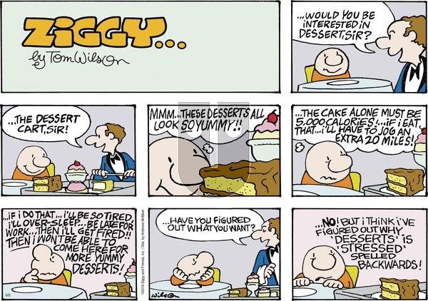 Ziggy on Sunday June 2, 2019 Comic Strip