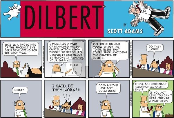 Dilbert - Sunday April 3, 2005 Comic Strip