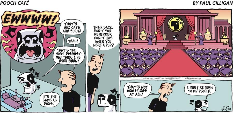 Pooch Cafe for Sep 29, 2013 Comic Strip