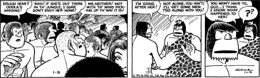 Alley Oop Comic Strip for January 09, 1973