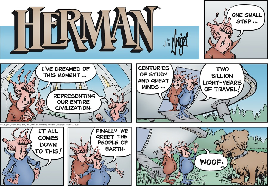 Herman Comic Strip for March 07, 2021
