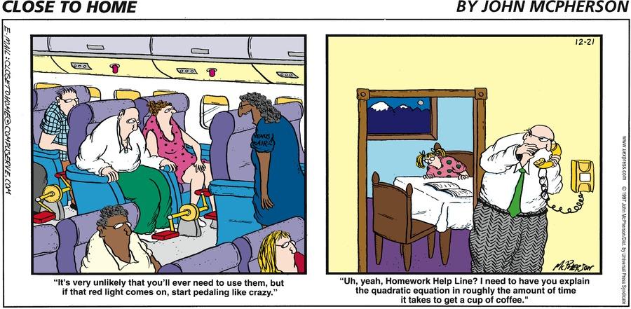 Close to Home for Dec 21, 1997 Comic Strip