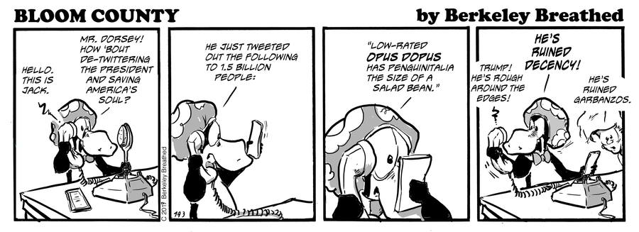 Bloom County 2019 by Berkeley Breathed for August 04, 2019