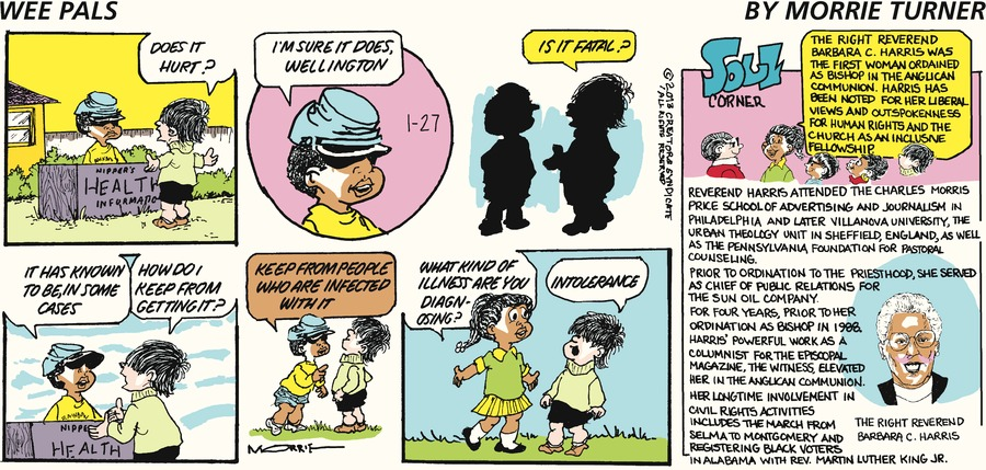 Wee Pals for Jan 27, 2013 Comic Strip