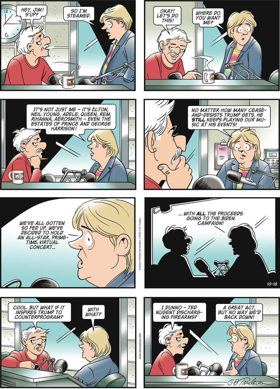 Doonesbury by Garry Trudeau on Sun, 18 Oct 2020