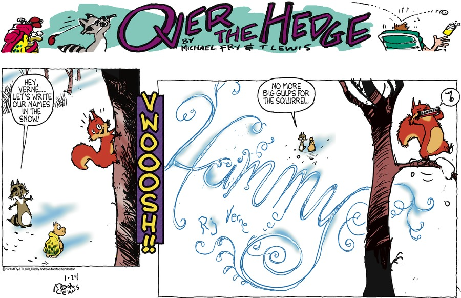 Over the Hedge Comic Strip for January 24, 2021