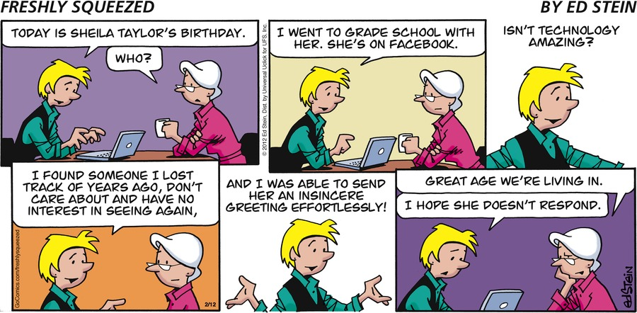 Freshly Squeezed Comic Strip for February 12, 2012