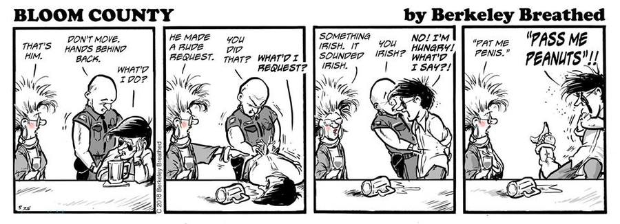 Bloom County 2019 Comic Strip for March 08, 2018