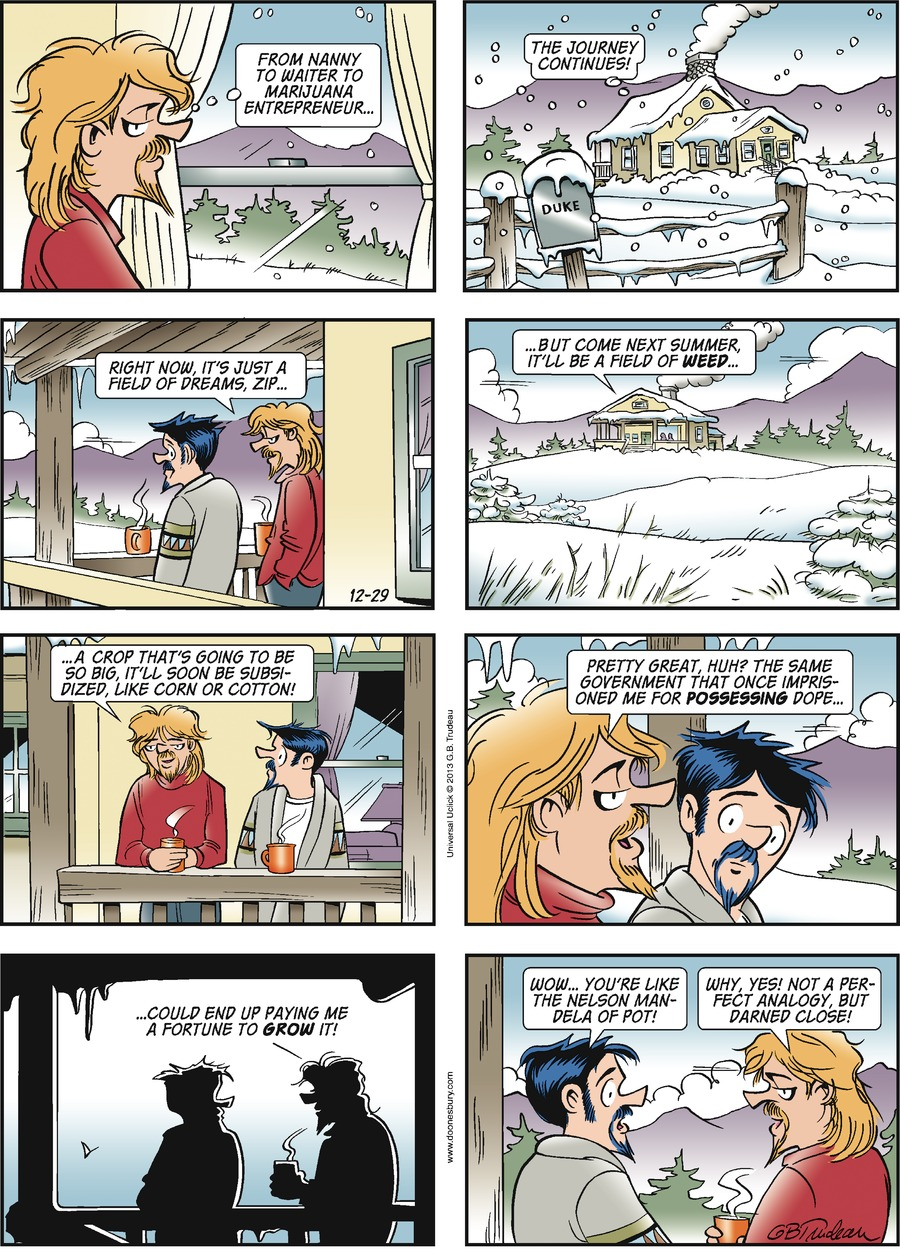 Doonesbury Comic Strip for December 29, 2013
