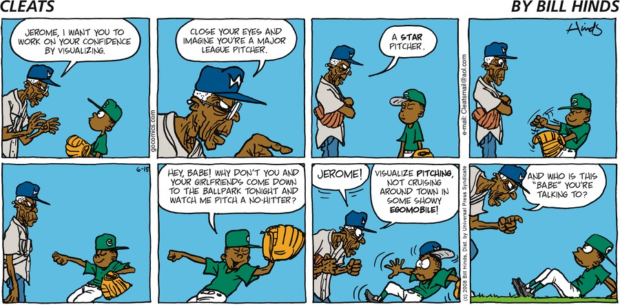 Cleats Comic Strip for June 15, 2008