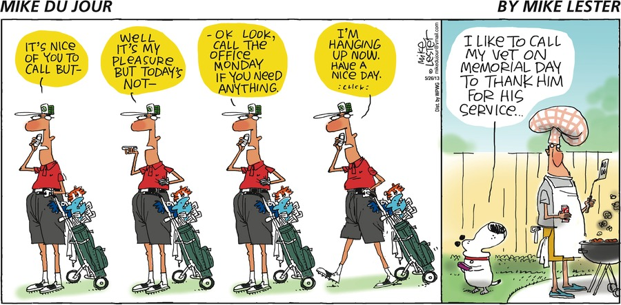 Mike du Jour for May 26, 2013 Comic Strip