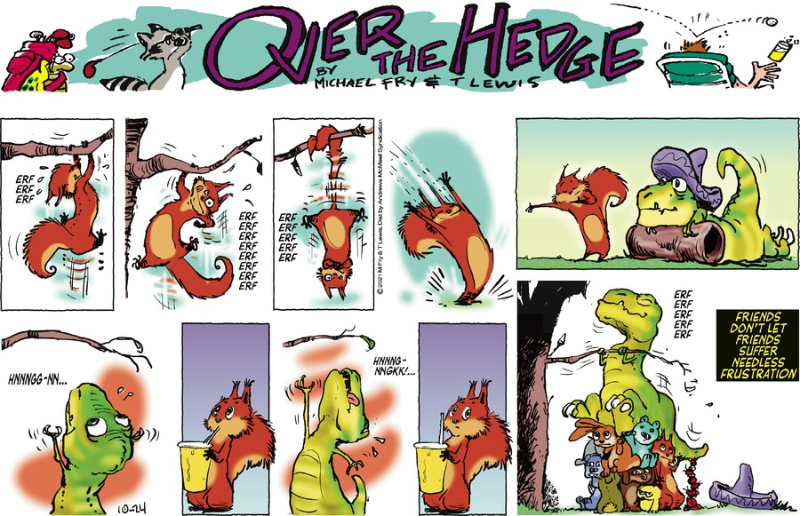 Over the Hedge by T Lewis and Michael Fry on Sun, 24 Oct 2021