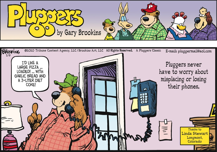 Pluggers Comic Strip for February 09, 2020