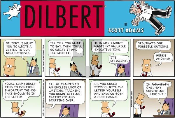 Dilbert - Sunday December 15, 2002 Comic Strip