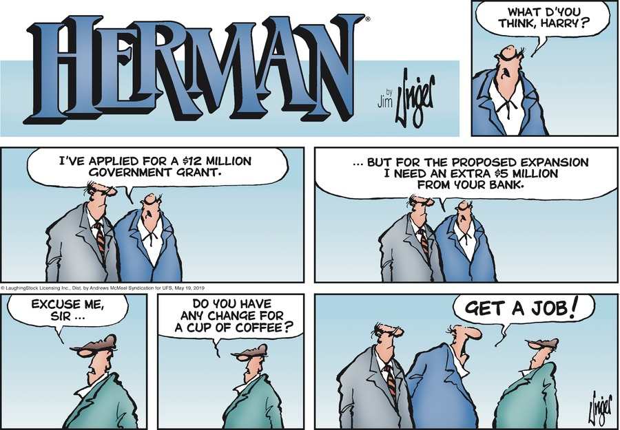 Herman Comic Strip for May 19, 2019