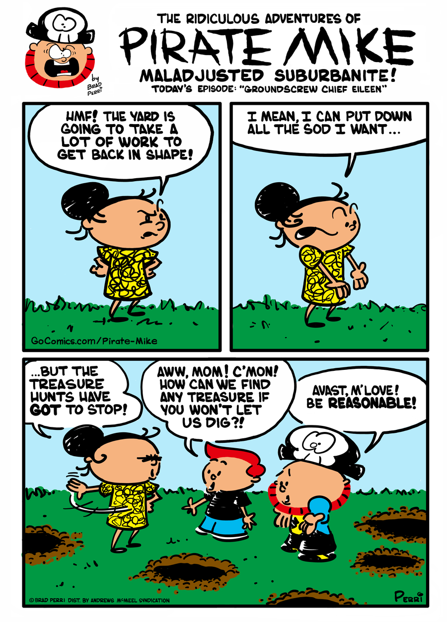 Pirate Mike Comic Strip for March 08, 2021