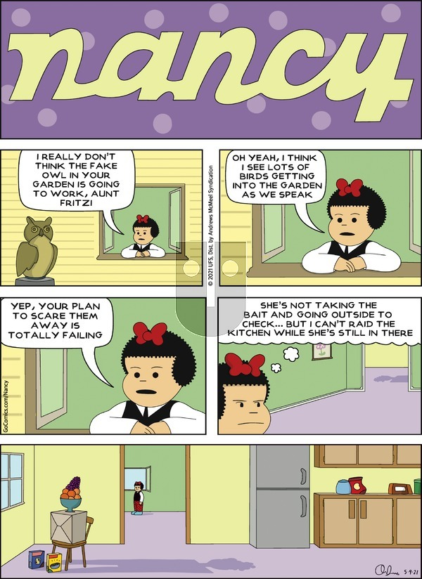 Nancy on Sunday May 9, 2021 Comic Strip