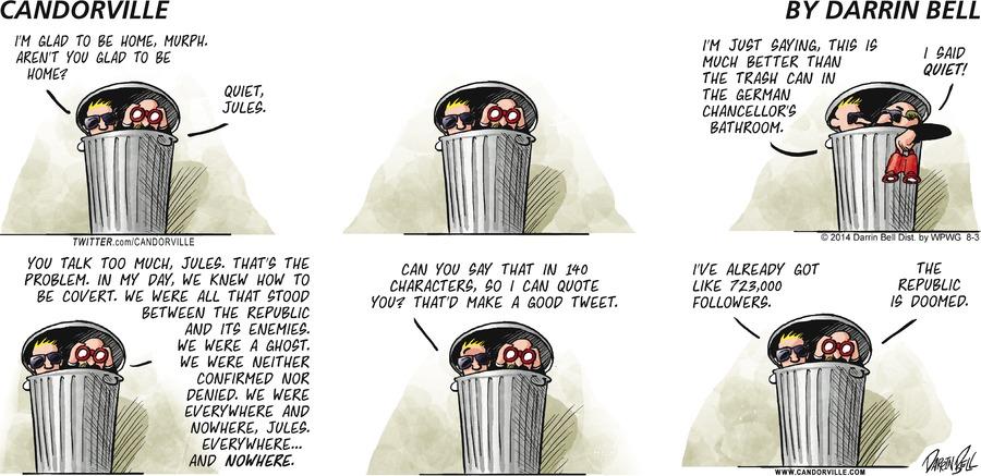 Candorville for Aug 3, 2014 Comic Strip