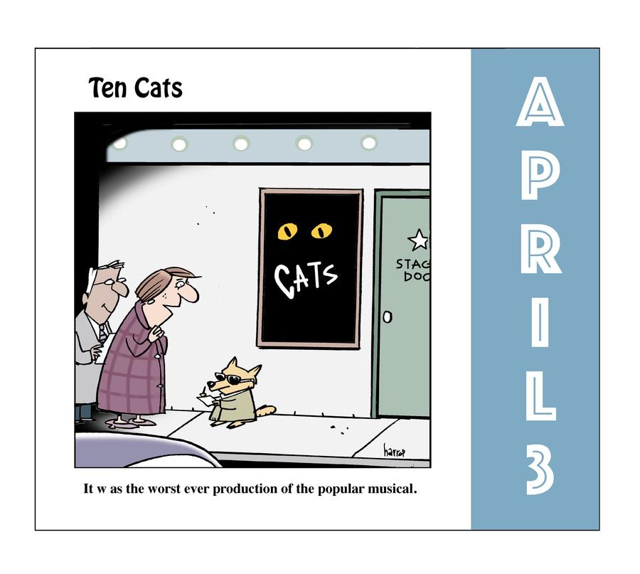 Ten Cats Comic Strip for April 03, 2021