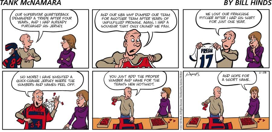 Tank McNamara Comic Strip for February 28, 2021