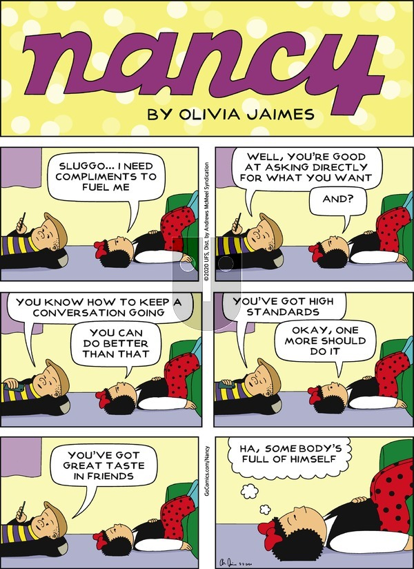 Nancy on Sunday February 2, 2020 Comic Strip