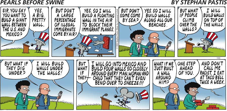 Pearls Before Swine Comic Strip for October 23, 2016