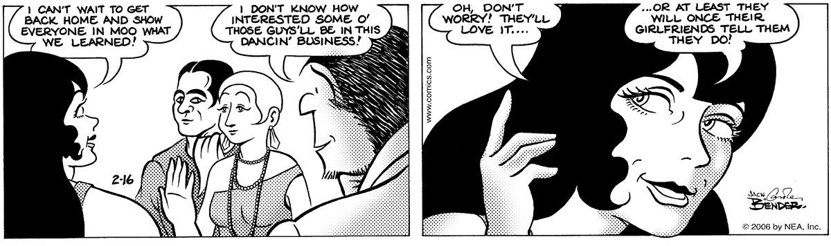 Alley Oop for Feb 16, 2006 Comic Strip