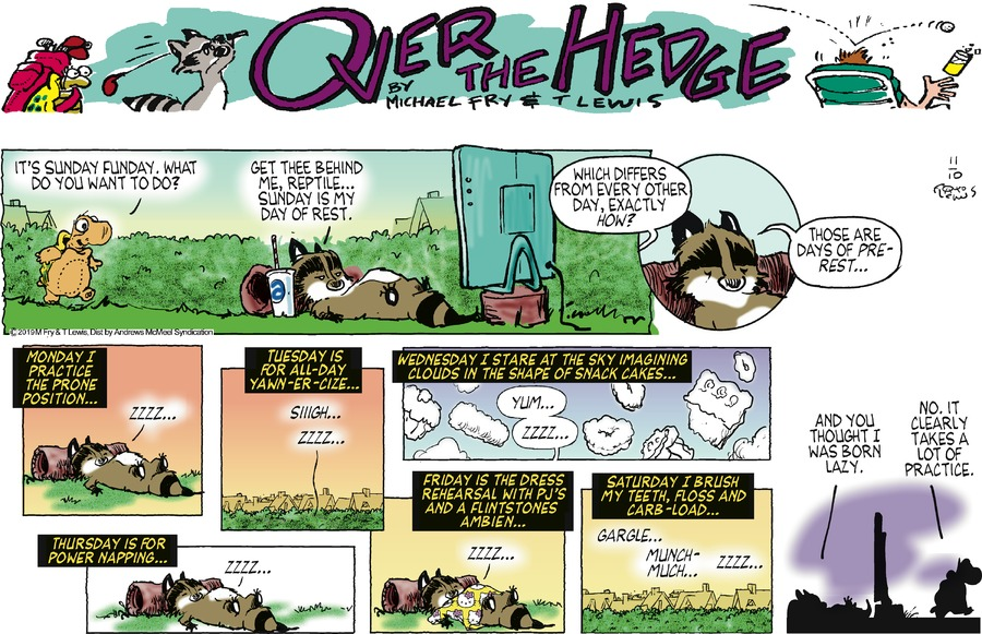 Over the Hedge Comic Strip for November 10, 2019