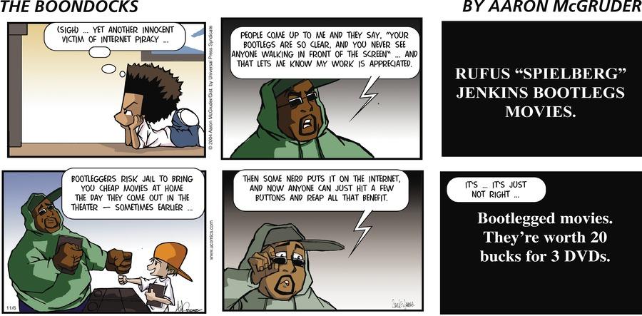 The Boondocks Comic Strip for November 06, 2005