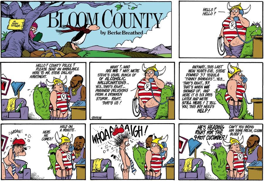 Bloom County for Jan 6, 1985 Comic Strip