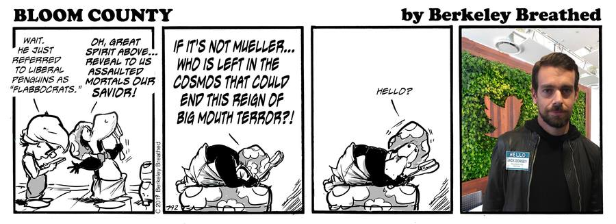 Bloom County 2019 Comic Strip for August 01, 2019