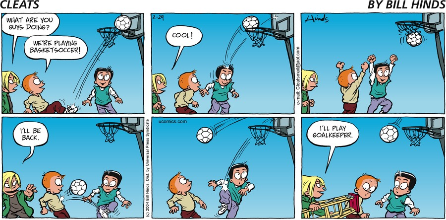 Cleats Comic Strip for February 29, 2004