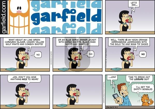 Garfield on Sunday September 2, 2018 Comic Strip
