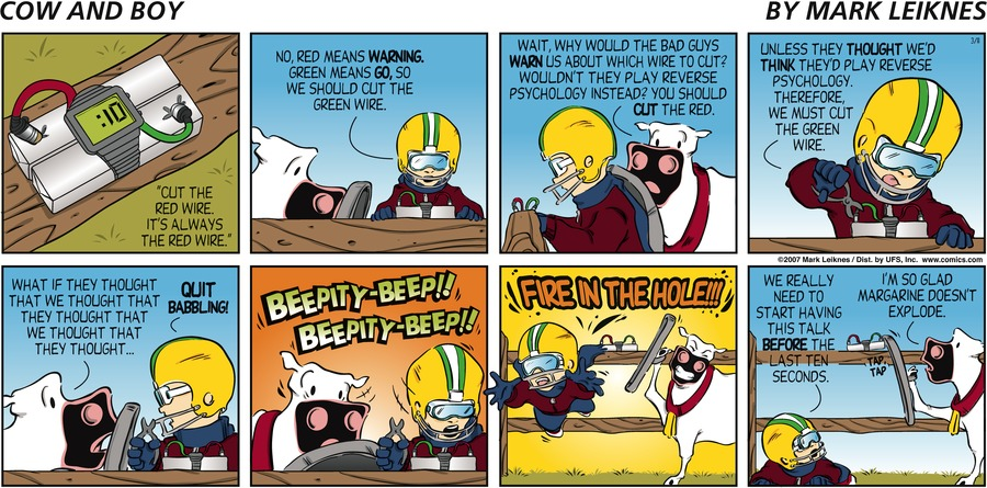 Cow and Boy Classics Comic Strip for March 11, 2007