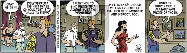 Alley Oop - Friday March 13, 2020 Comic Strip
