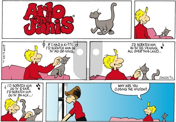 Arlo and Janis - Sunday March 14, 1999 Comic Strip