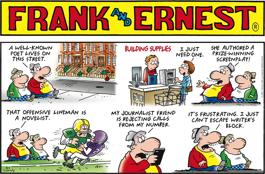 Frank and Ernest Comic Strip for August 01, 2021