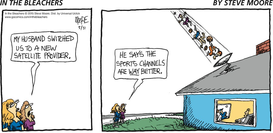 In the Bleachers for May 31, 2015 Comic Strip