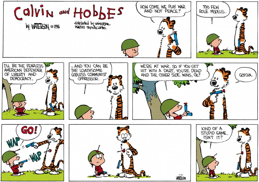 Calvin and Hobbes Comic Strip for March 20, 2016