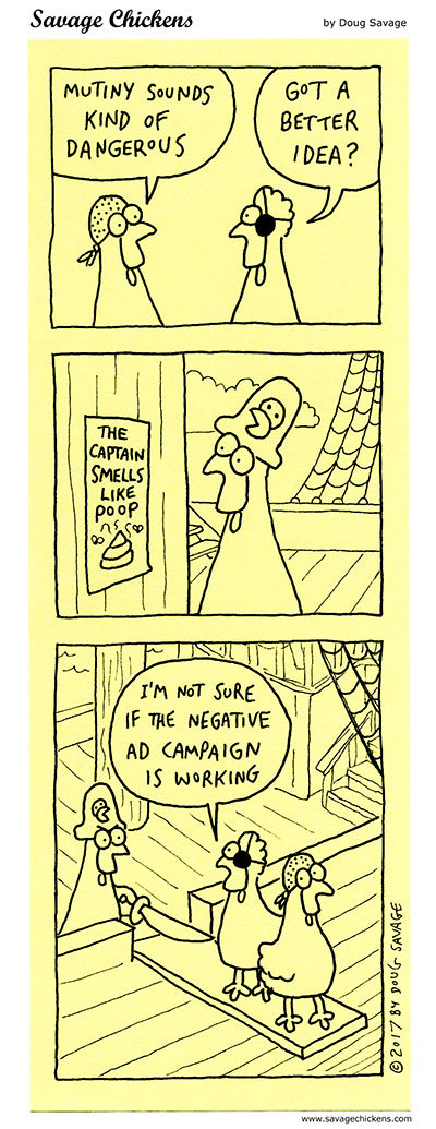 Savage Chickens Comic Strip for September 15, 2021