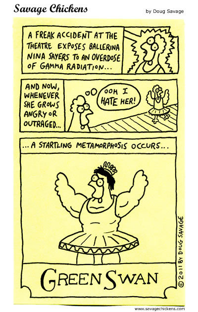 Savage Chickens for Feb 19, 2015 Comic Strip