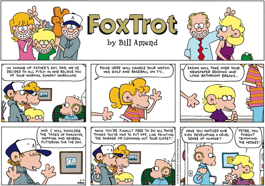 FoxTrot Comic Strip for June 16, 2002