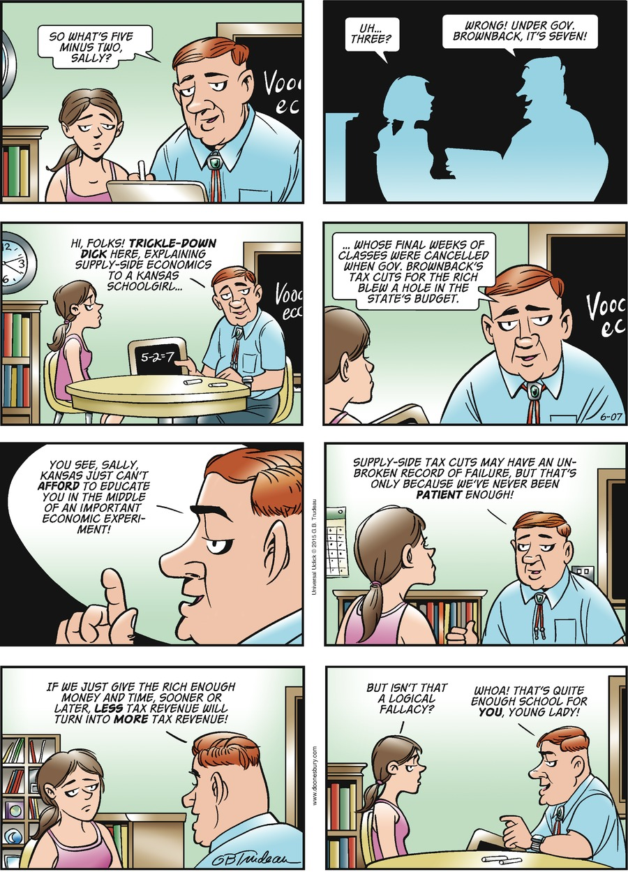 Doonesbury Comic Strip for June 07, 2015