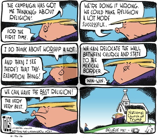 Tom Toles - Sunday June 26, 2016 Comic Strip